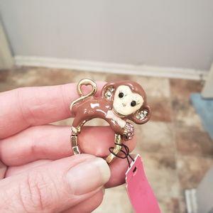 Betsey Johnson Monkey Ring